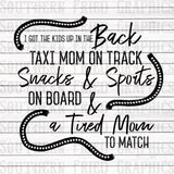 Old Town Road Inspired Taxi Mom Graphic