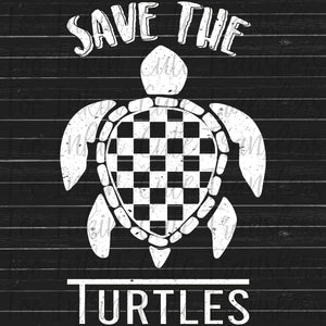 Vans Inspired VSCO Save the Turtles Screen Print Transfer RTS