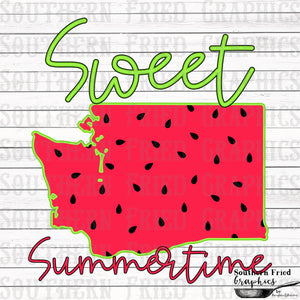 Washington Sweet Summertime Digital Graphic