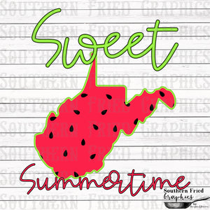 West Virginia Sweet Summertime Digital Graphic