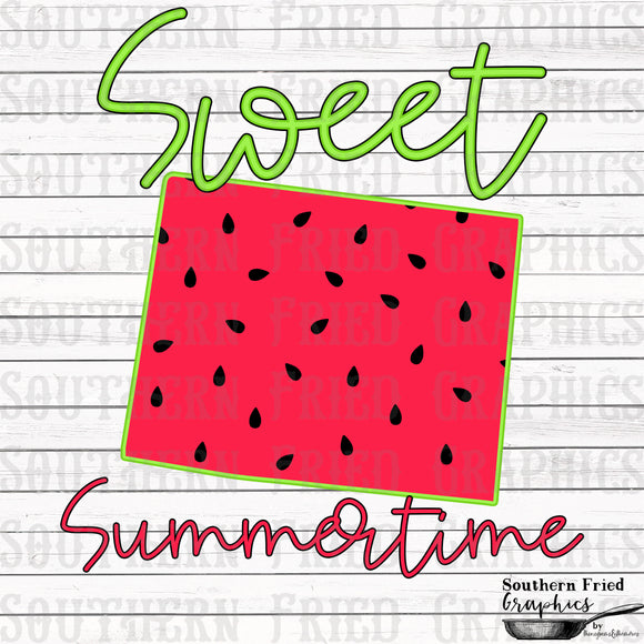 Wyoming Sweet Summertime Digital Graphic
