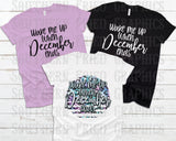 Wake Me Up when December Ends Digital Graphic including Black and White Set