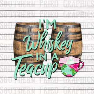 Preppy Whiskey in a Teacup Graphic