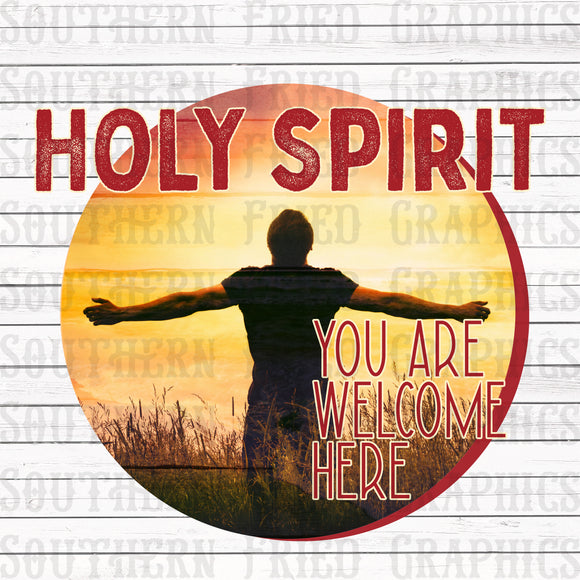 Holy Spirit You are Welcome Here V2 Digital Graphic