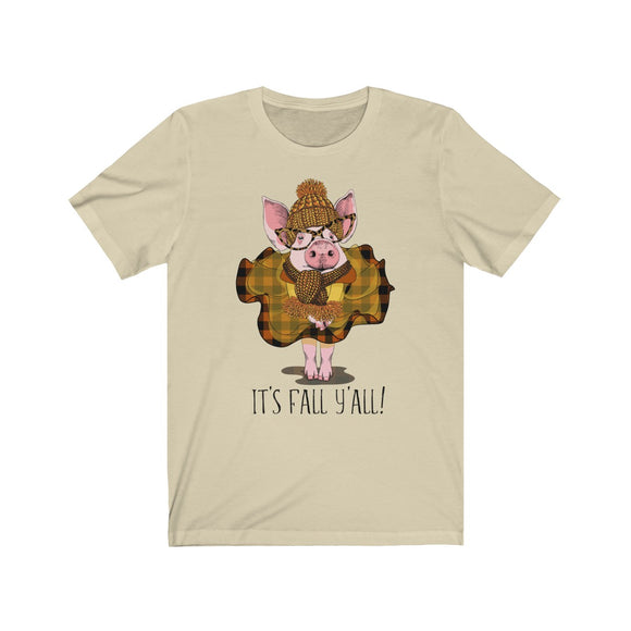 It's Fall Y'all Piggy Short Sleeve Tee