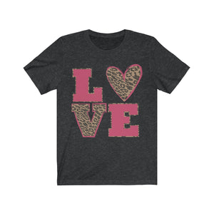 Hot Pink Leopard Love Short Sleeve Tee