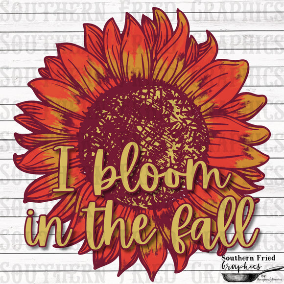 I Bloom in the Fall Digital Graphic