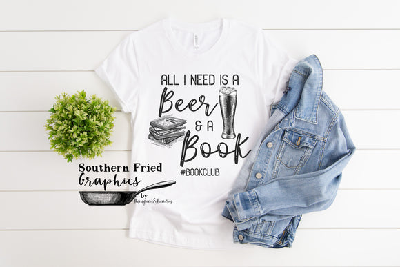 All I Need is a Beer and a Book Digital Graphic Set