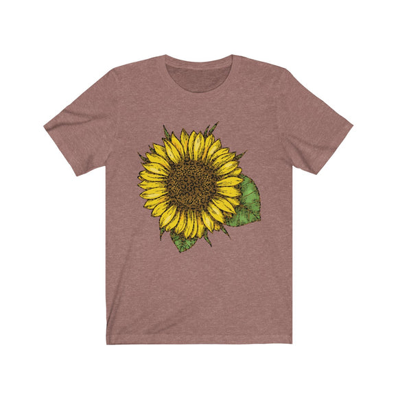 Leopard Sunflower Short Sleeve Tee