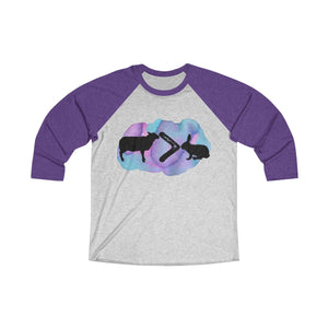 The Lamb is Greater than the Bunny Easter Tri-Blend 3/4 Raglan Tee