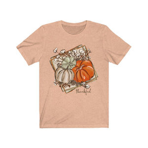 Thankful Chalk Pumpkins Short Sleeve Tee