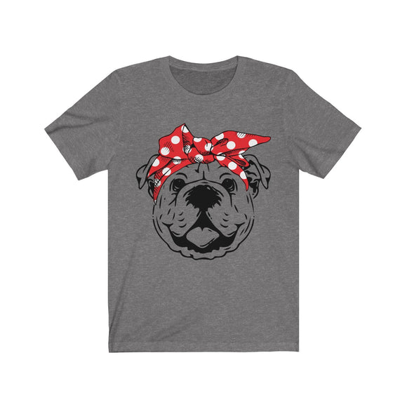 Bulldog in Bandana Short Sleeve Tee