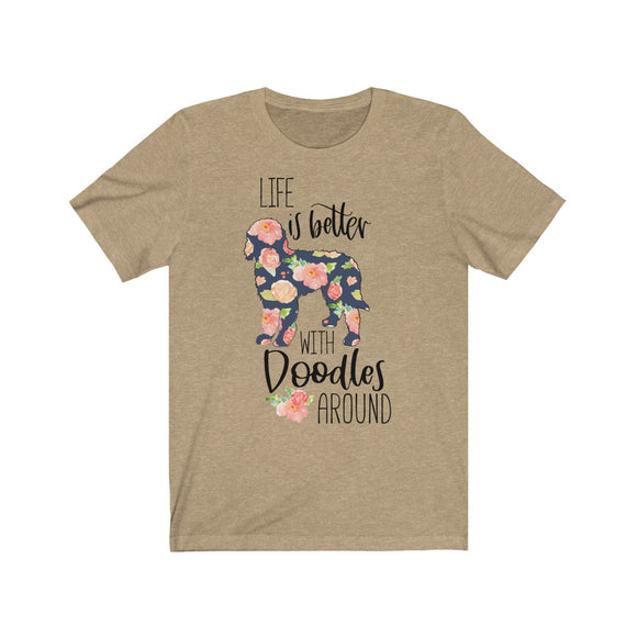 Life is Better with Doodles Short Sleeve Tee