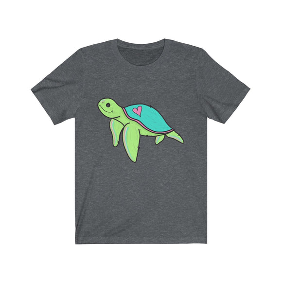 Cute Heart Sea Turtle Unisex Jersey Short Sleeve Tee