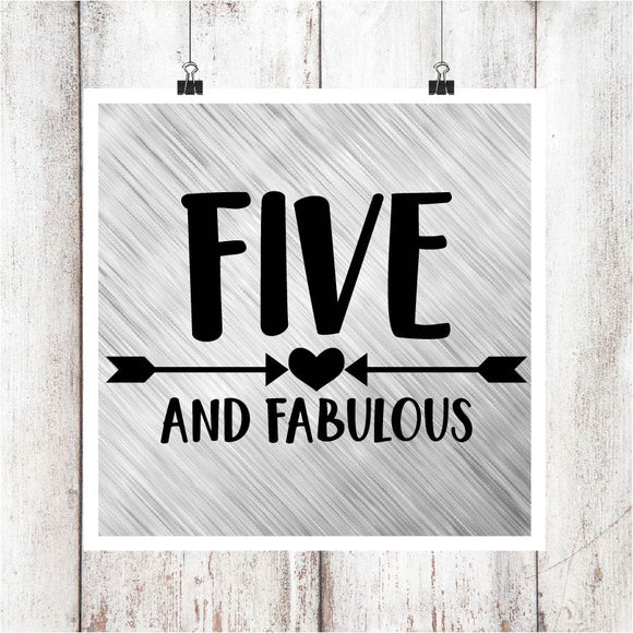 Five & Fabulous Digital Graphics