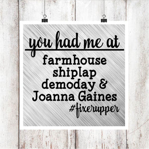#FixerUpper Digital Graphics