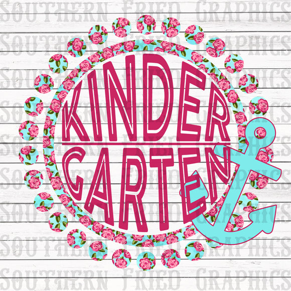 Anchor Floral Kindergarten Digital Graphic