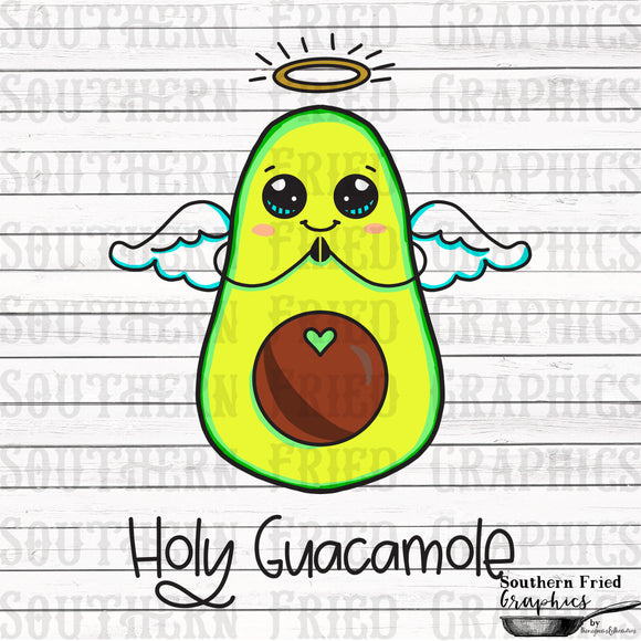 Holy Guacamole Digital Graphic