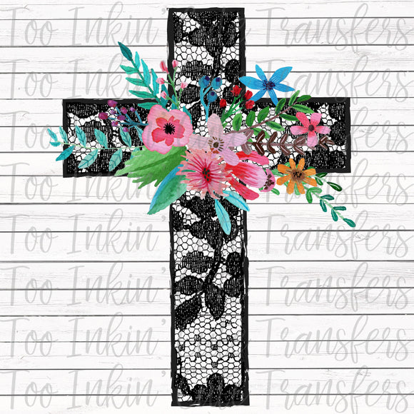 Lace Cross Transfer