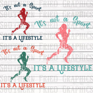 Runner Female Lifestyle Graphic Set