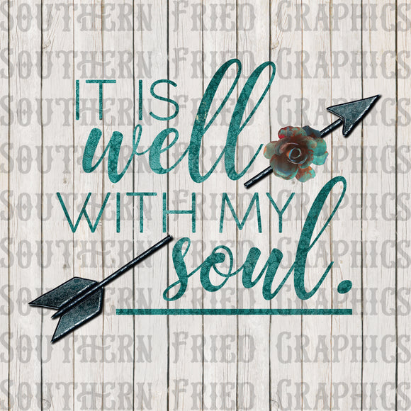 It is Well with my Soul Vintage Digital Graphic