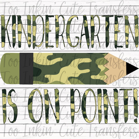 Camo Kindergarten On Point Transfer