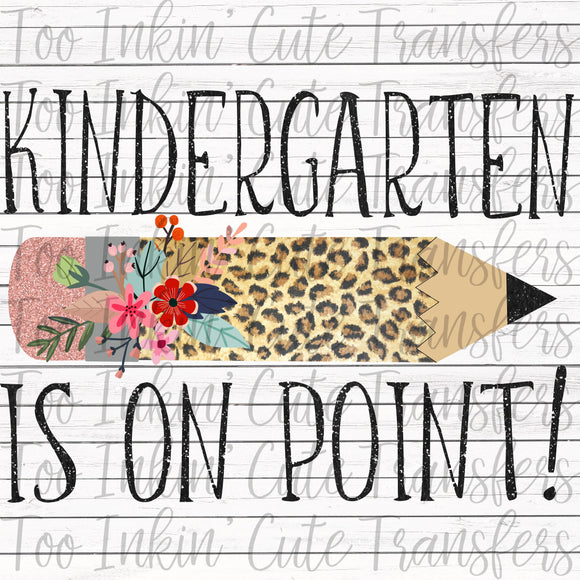 Leopard Kindergarten On Point Transfer