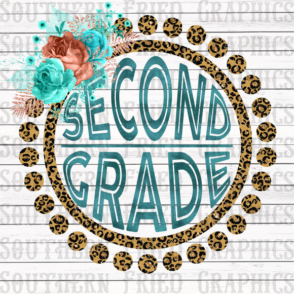 Leopard Second Grade Digital Graphic