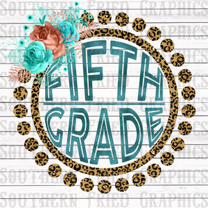Leopard Fifth Grade Digital Graphic