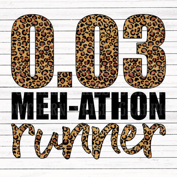 MEH-ATHON Runner Digital Graphic