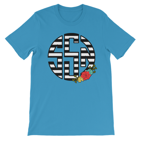 Stripe and Floral Monogram Tee