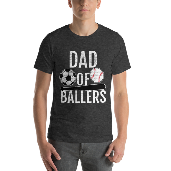 Dad of Ballers Soccer/Baseball Short-Sleeve Unisex T-Shirt