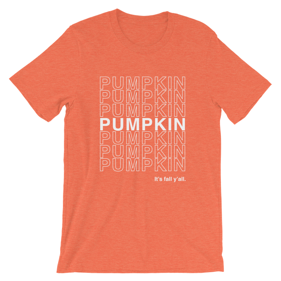 Pumpkin Shopping Bag Unisex Tee