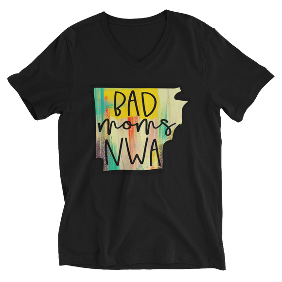 Bad Moms NWA Colorful Unisex Short Sleeve V-Neck T-Shirt