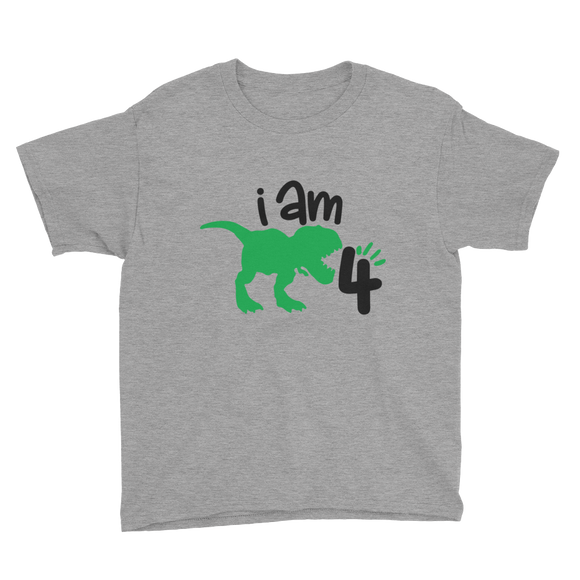 I am 4 Dinosaur Youth Short Sleeve T-Shirt
