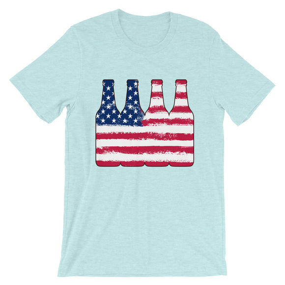 Beer Flag Design Short-Sleeve Unisex T-Shirt