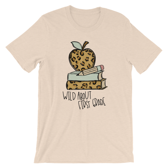 Wild about First Grade Short-Sleeve Unisex T-Shirt