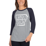 Bad Moms NWA White 3/4 sleeve raglan shirt