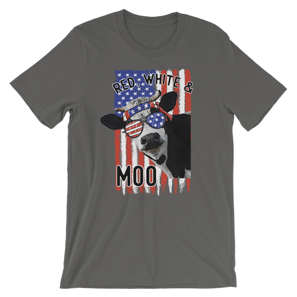 Red White & Moo Short-Sleeve Unisex T-Shirt