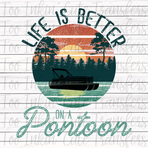 Life is Better on a Pontoon Transfer