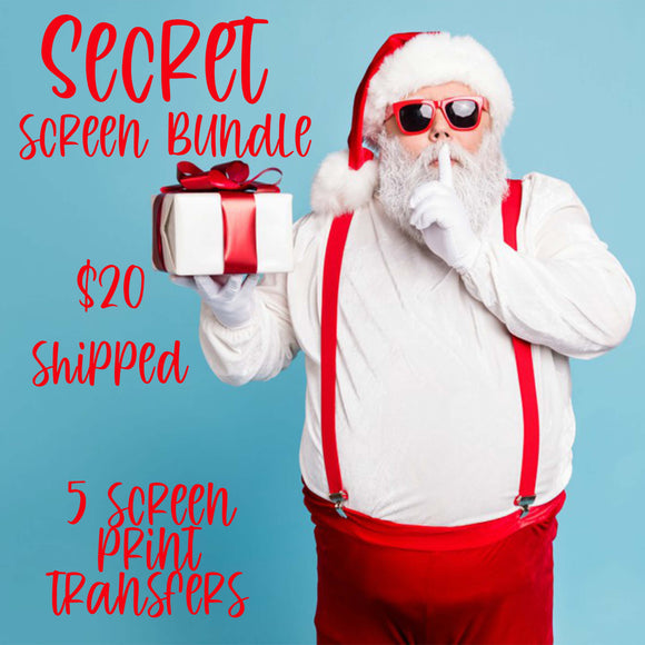 Secret Screen Bundle - 5 RTS Screen Print Transfers