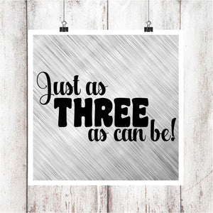 Three as Can Be Digital Graphics