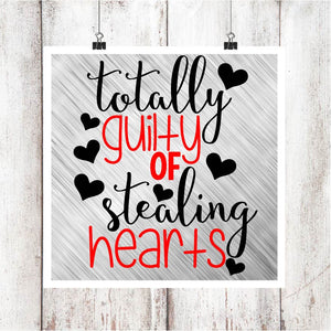 Totally Guilty of Stealing Hearts Digital Graphics