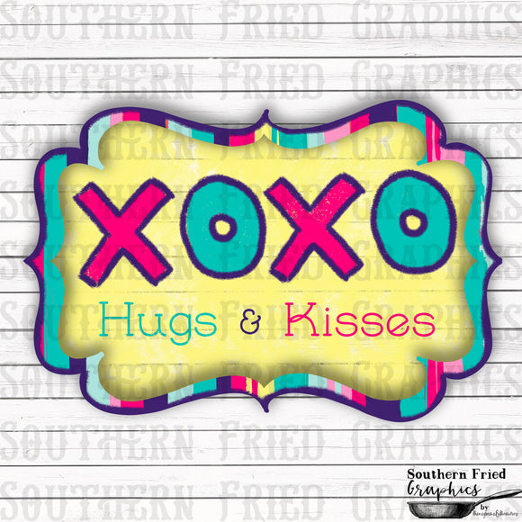 XOXO Hugs & Kisses Digital Design