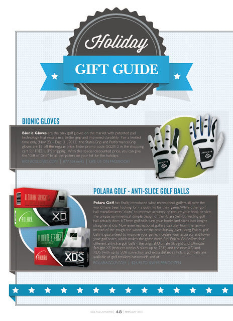 Golf Illustrated Says Polara Golf's anti-slice golf balls are the Perfect Holiday Gift