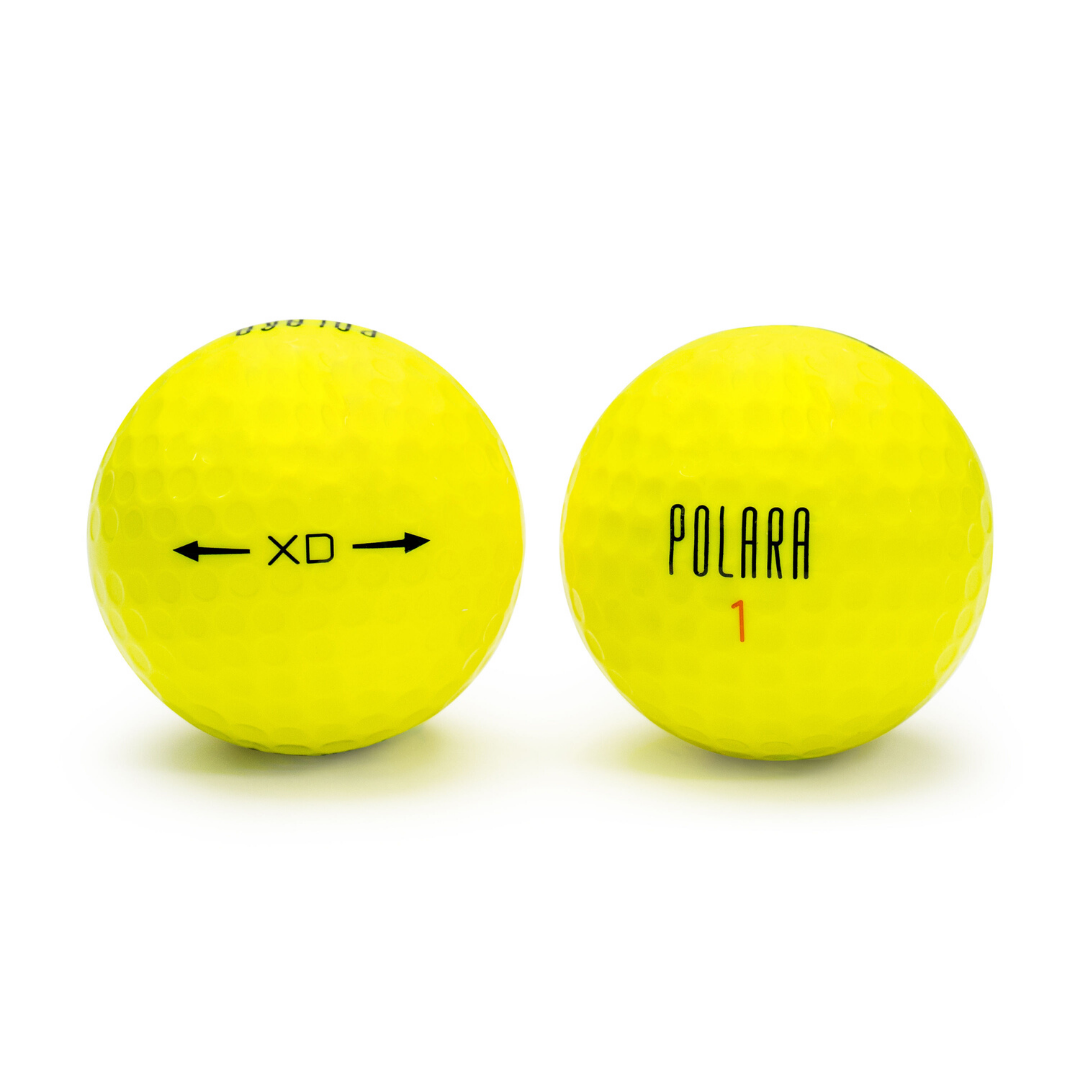 Yellow XD Extra Distance - One Dozen Golf Balls - Polara Golf