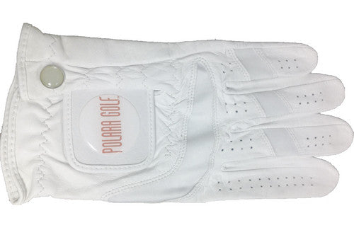 The high-quality Polara Golf Cabretta leather golf glove gives the golfer's hand a better fit while allowing breathability during play.