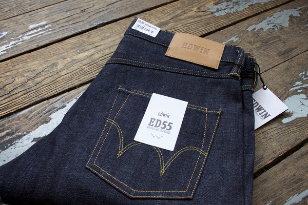 50be8f58aa1 Edwin ED-55 Raw Denim Red Selvedge Jeans