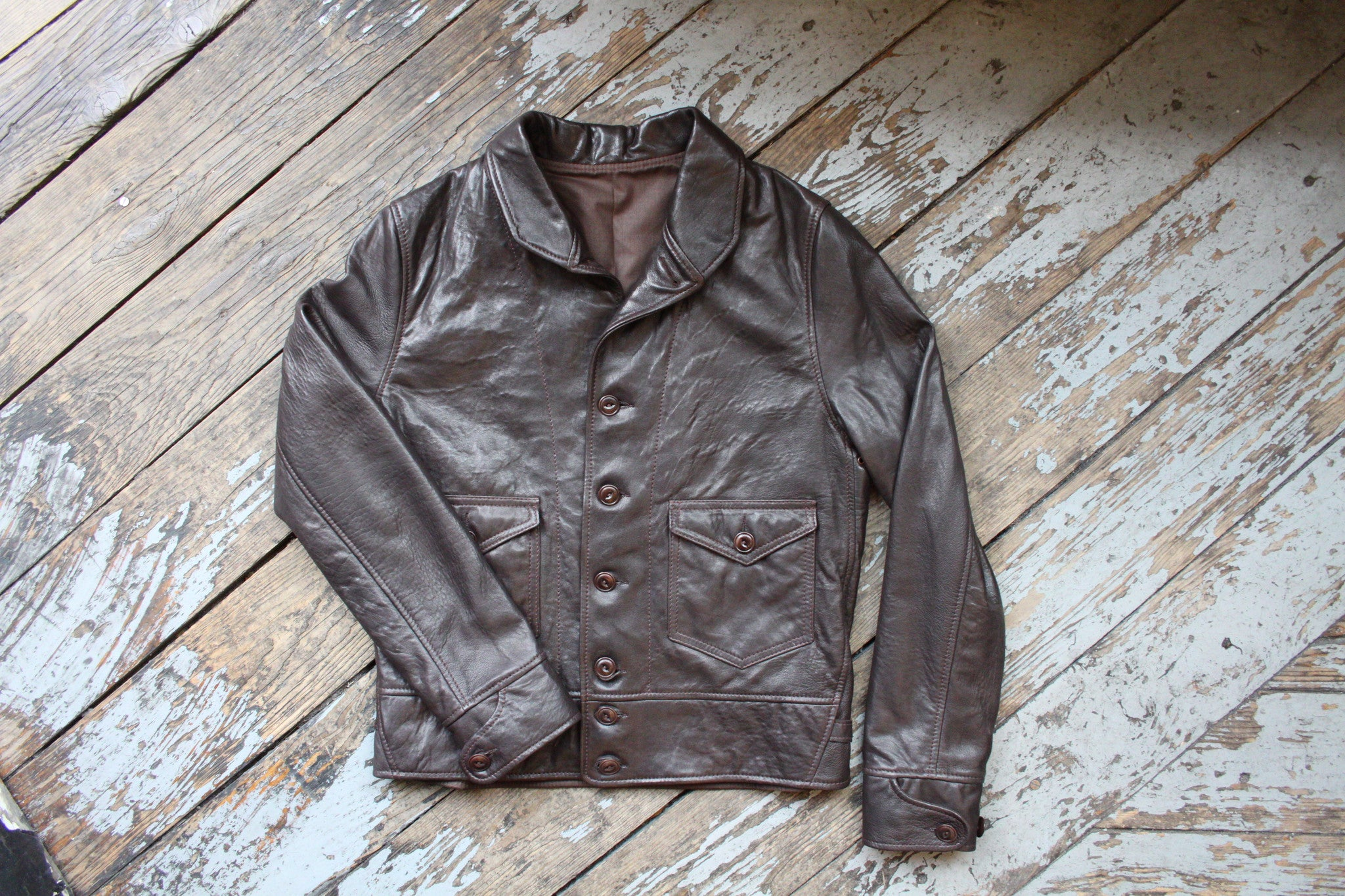 d6c3bc57cef Bill Kelso Cossack Capeskin Leather Jacket
