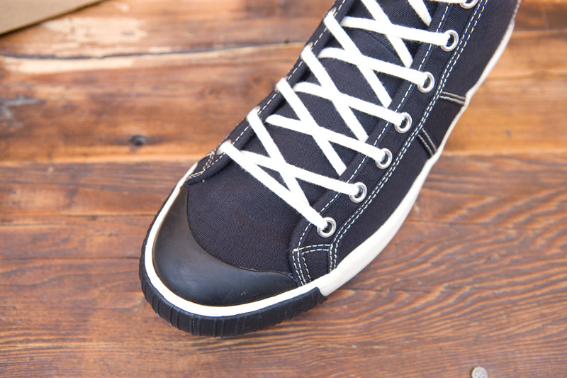 3143f7a7a8de Colchester Rubber Co High Top Sneakers Black - American Classics London